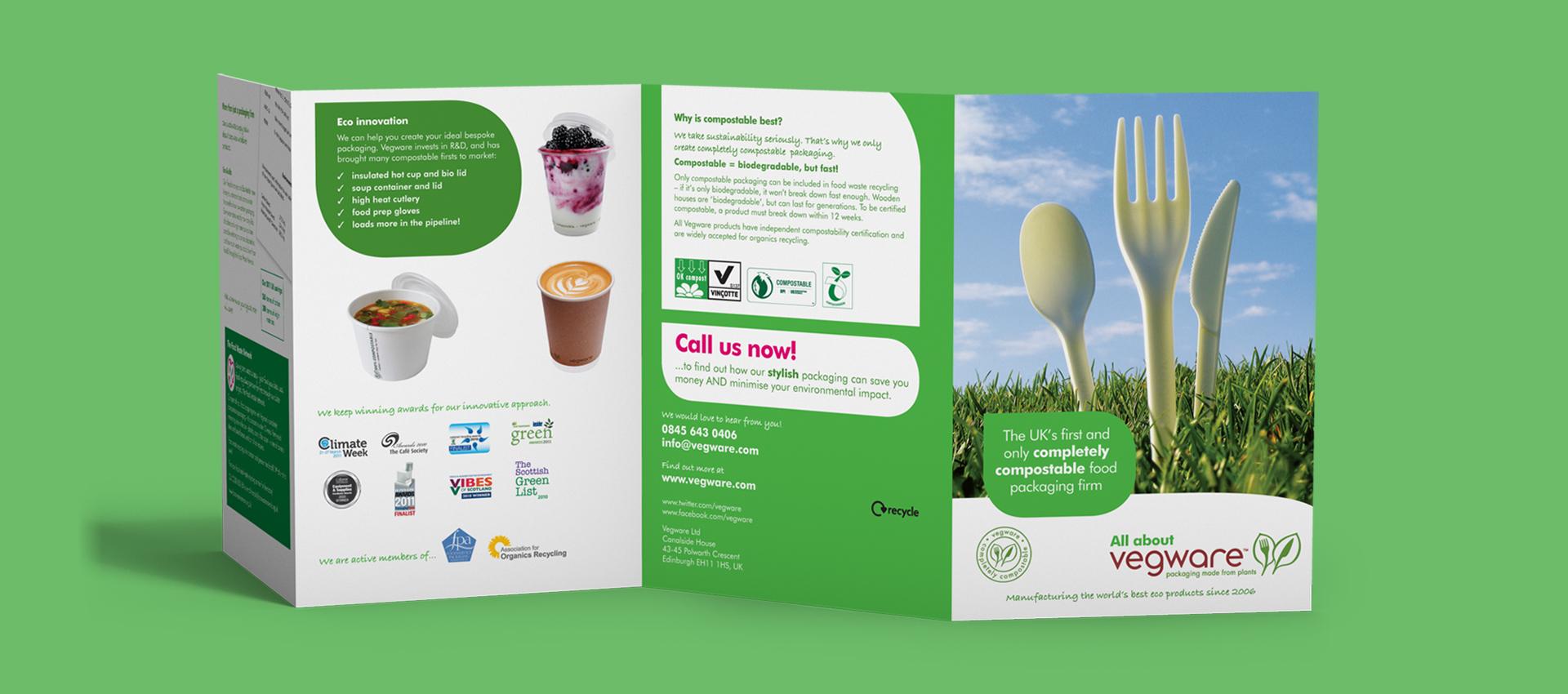 Vegware product leaflet